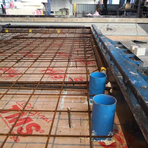préfabrication des murs en usine